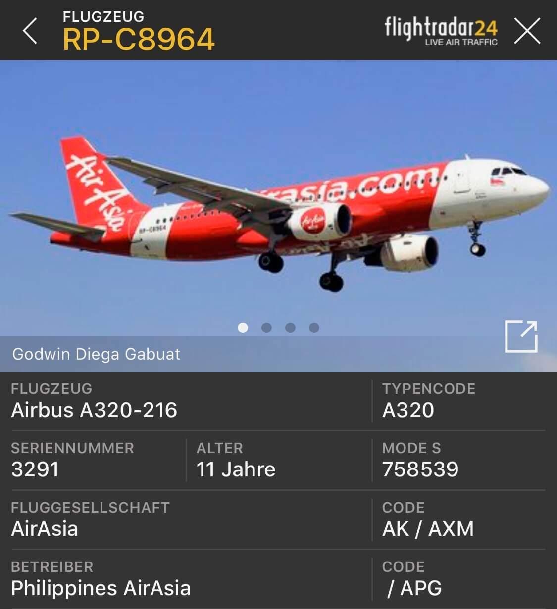 Philippines AirAsia Erfahrungen & Test (CRK-MPH) Z2921 Tripreport Flugzeugdaten