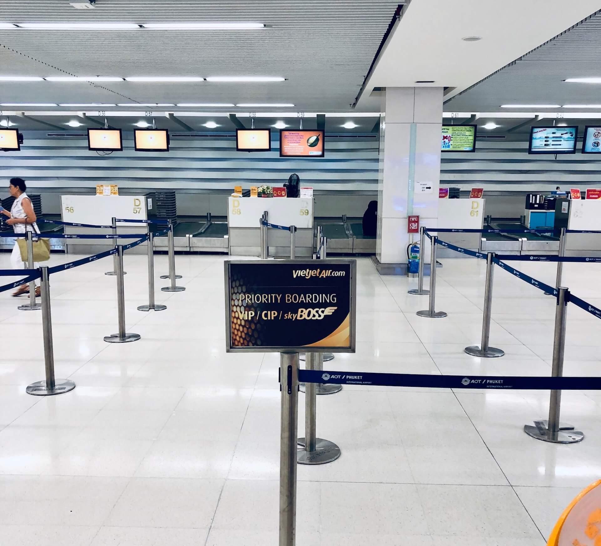 Skyboss Priority Check In Phuket Thailand