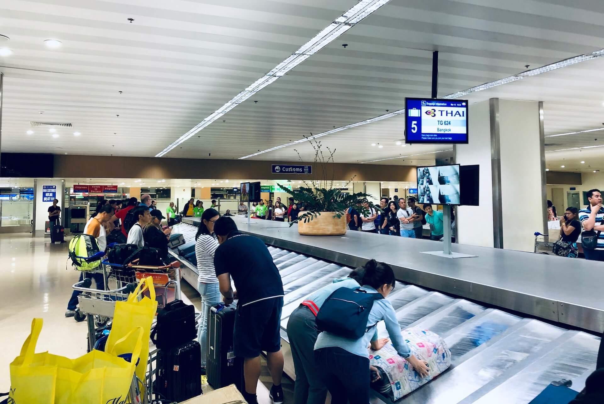 Thai Airways Manila Airport Gepäckausgabe