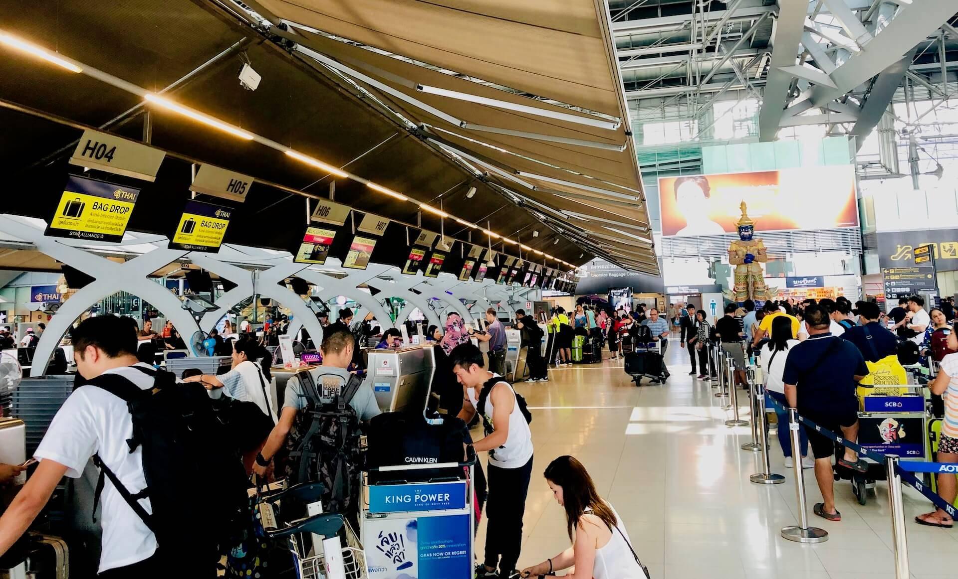 Thai Airways TG624 Check In Bangkok nach Manila