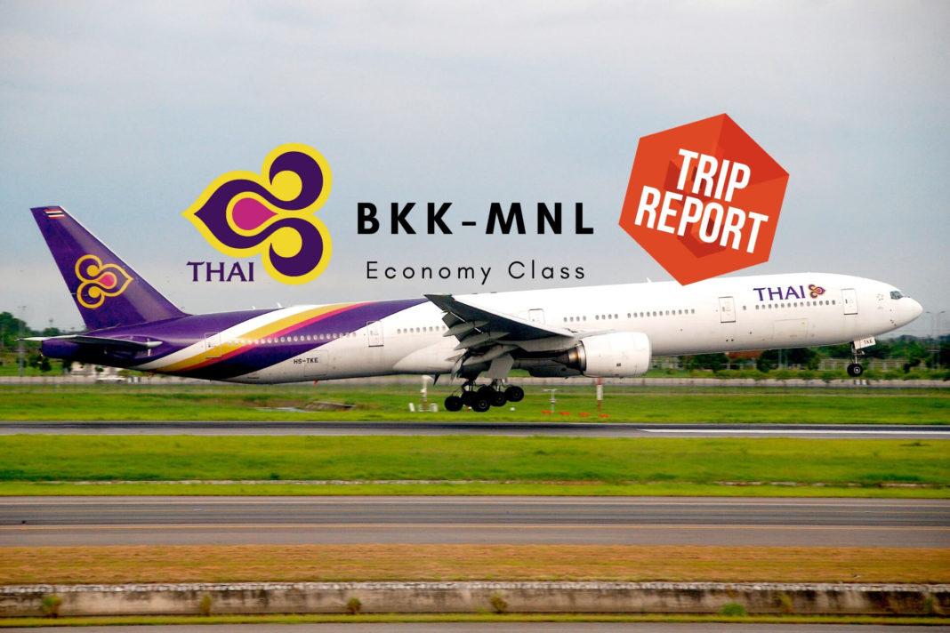 Thai Airways Tripreport Economy Bangkok - Manila