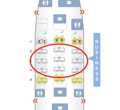 Asiana Airbus A330 Business Class Sitzplatzempfehlung