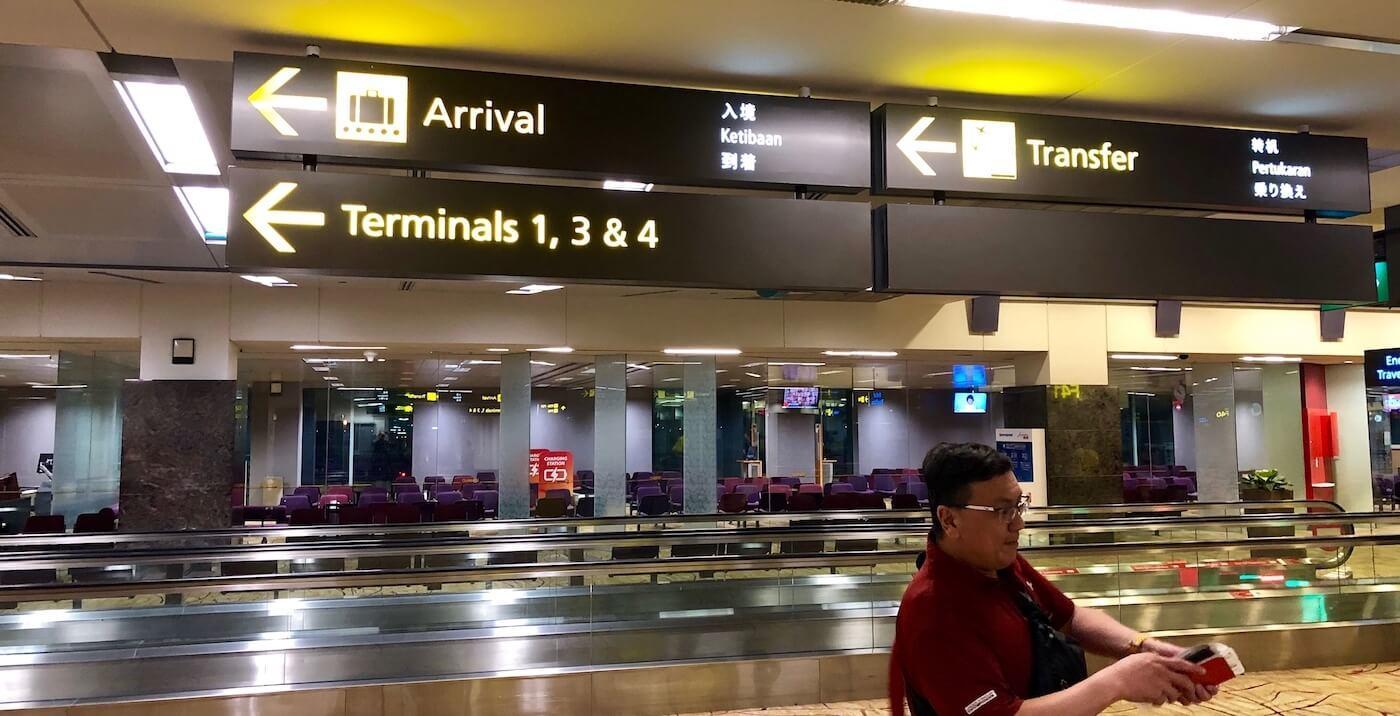 Changi Flughafen Umsteigen