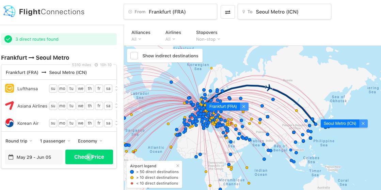 FlightConnections Direktflüge