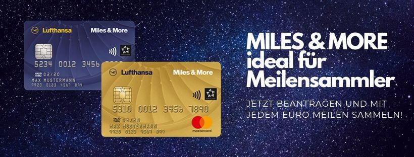 Miles and More Kreditkarten Meilensammler Banner