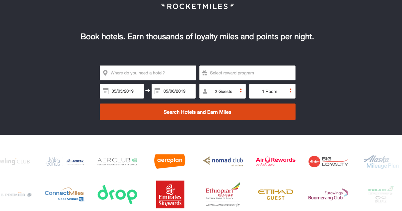 Rocketmiles Startseite