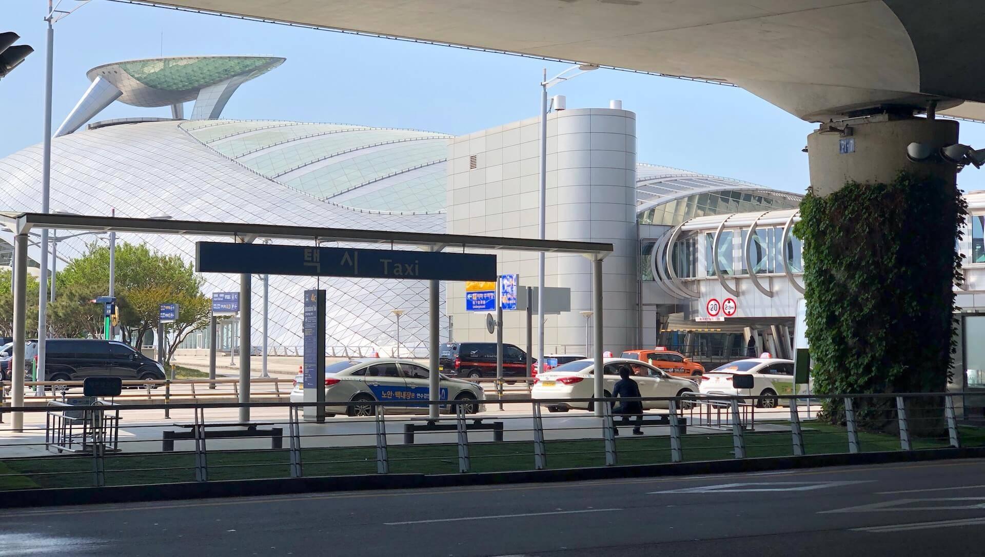 Seoul Flughafen Taxistand