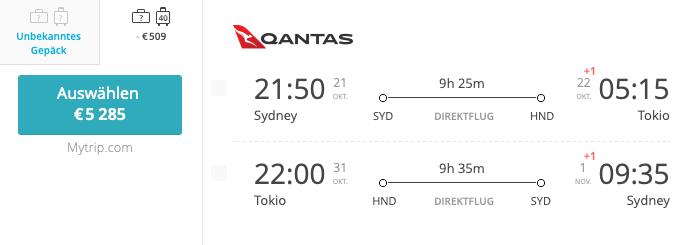 Sydney - Tokyo - Sydney Asia Miles