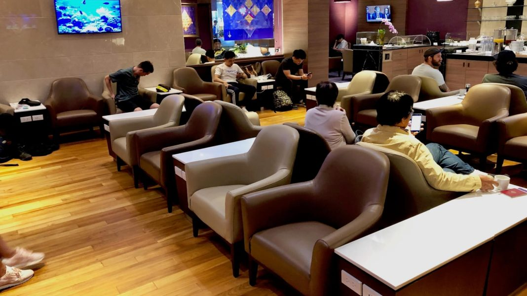 Thai Airways Royal Silk Domestic Lounge Chiang Mai Test