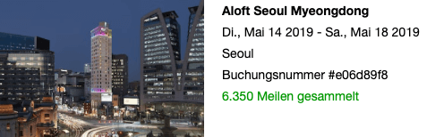 aLoft Hotel Seoul Meyongdong Meilen