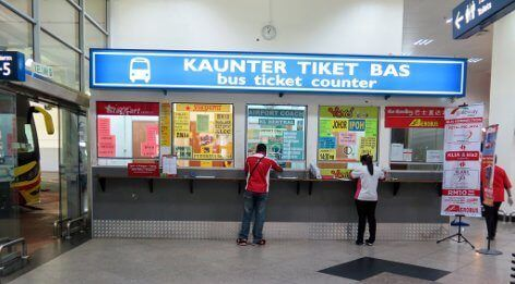 KLIA Airport Bus Station Ticketschalter