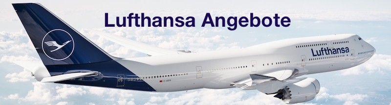 Lufthansa Angebote Banner Boeing 747