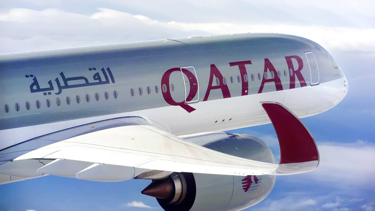 Qatar Airways Angebote Banner Airbus A350-1000