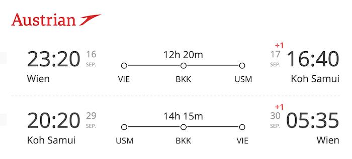 VIE-USM Austrian Airlines