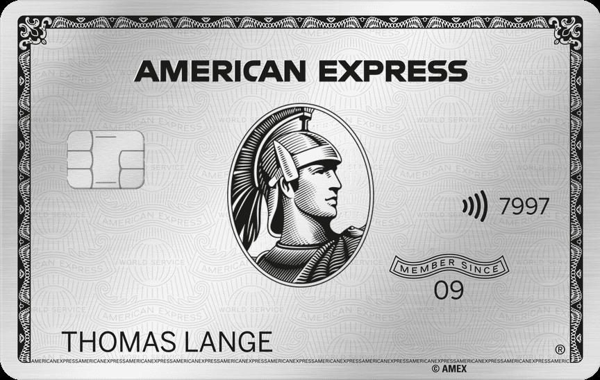 American Express Platinum neu metall
