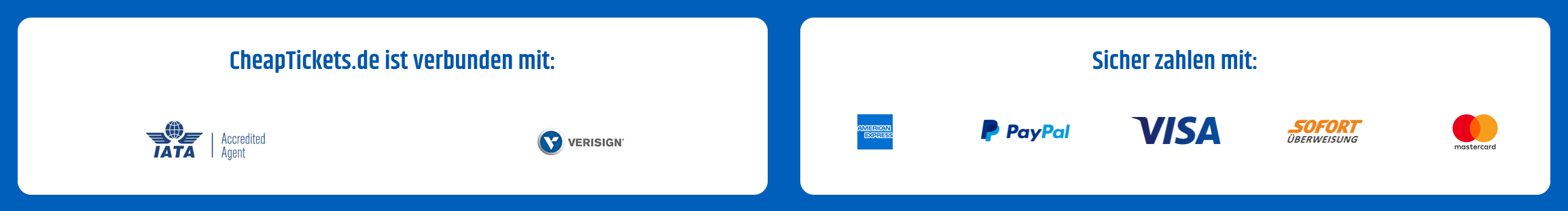 Cheaptickets.de Zahlung ohne Kreditkarte