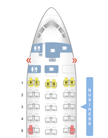 Condor Boeing 767 Business Class Layout