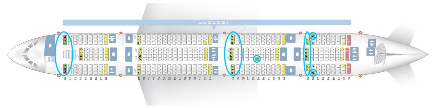 Etihad Airways Airbus A380 Economy Seat Map