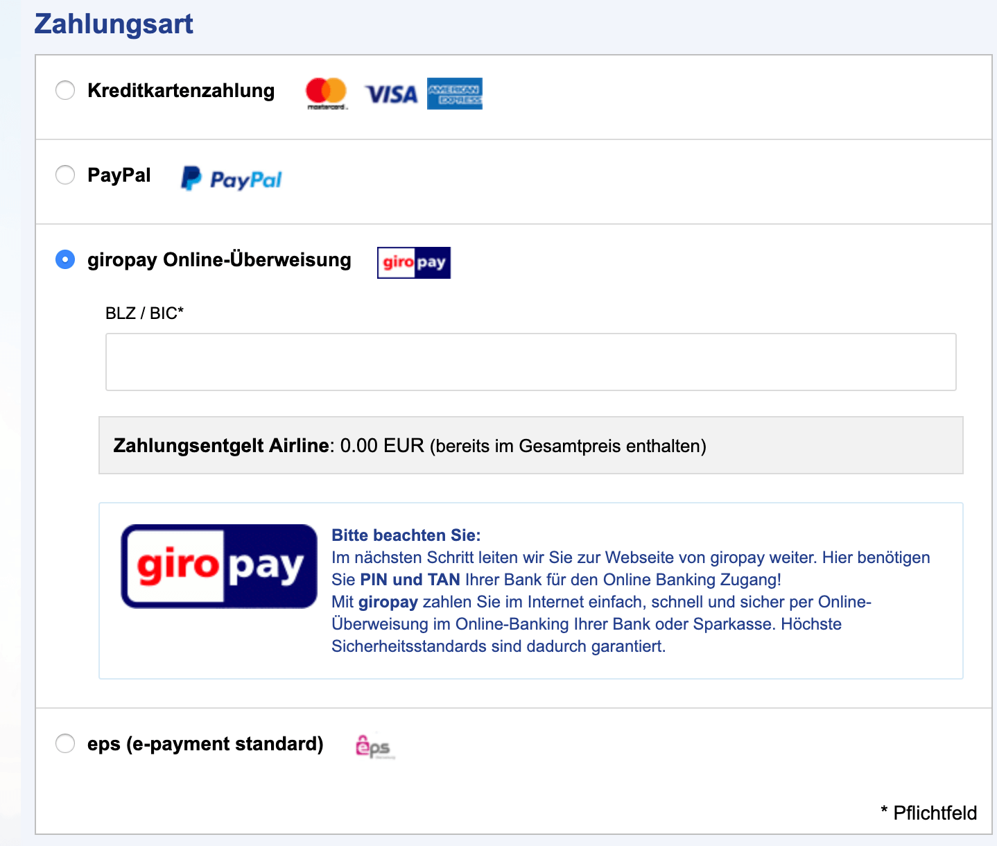 Fly.de ohne Kreditkarte buchen