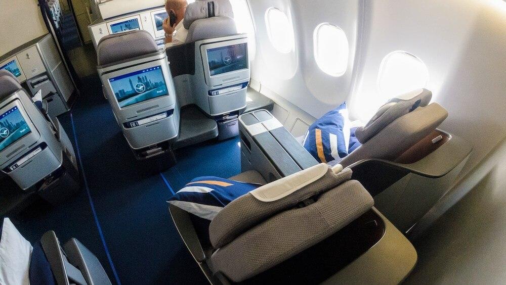 Lufthansa A330 Business Class Kabine