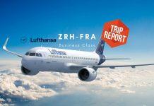Lufthansa Business Class Airbus A320neo Zürich nach Frankfurt TripReport Airguru