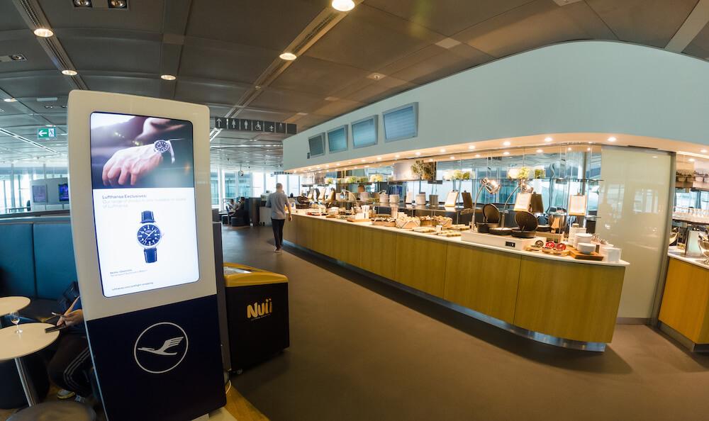 Lufthansa Business Class Lounge Buffet