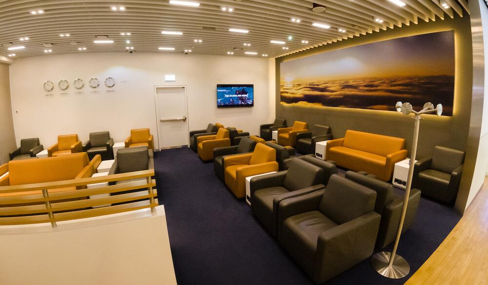 Lufthansa Business Class Lounge Dubai Sessel
