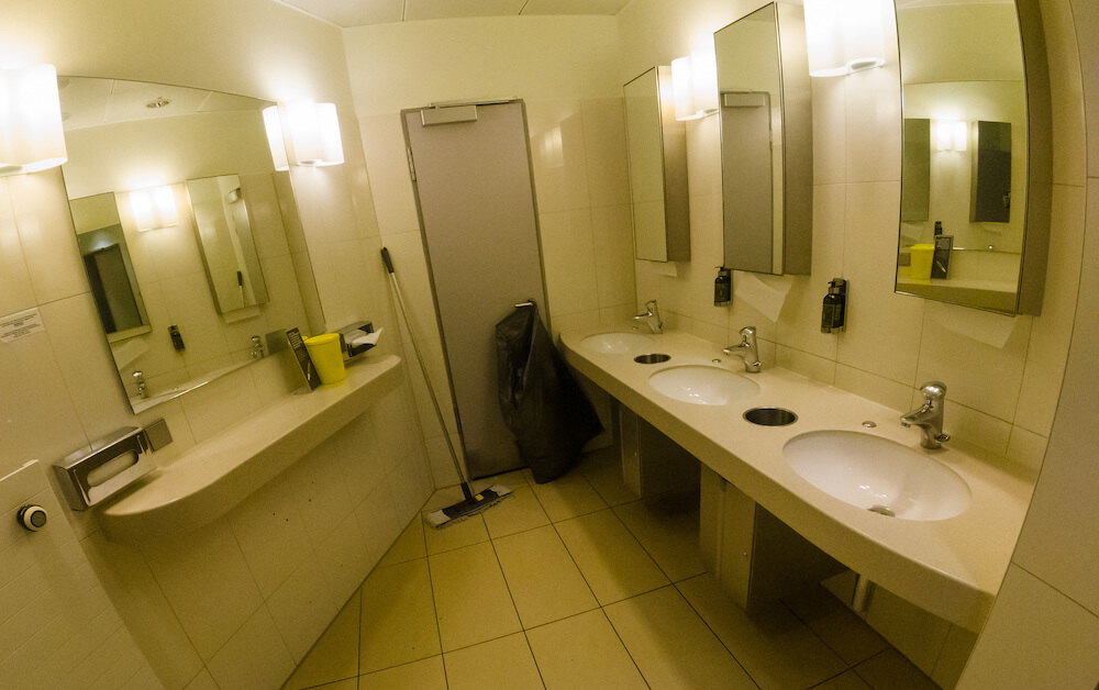 Lufthansa Business Class Lounge Toilette