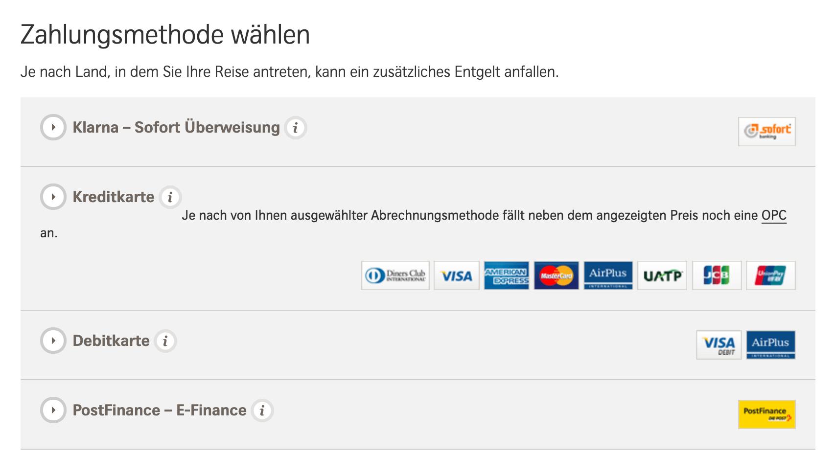 Swiss Zahlung ohne Kreditkarte