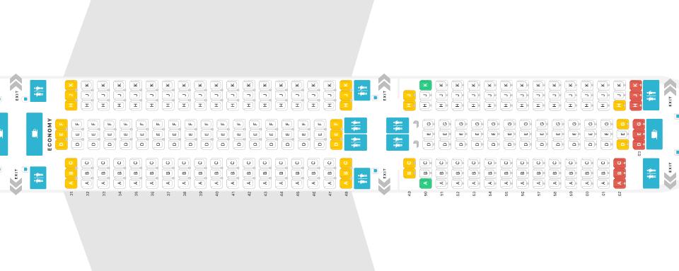 Thai Airways Airbus A350 Economy Seat Map
