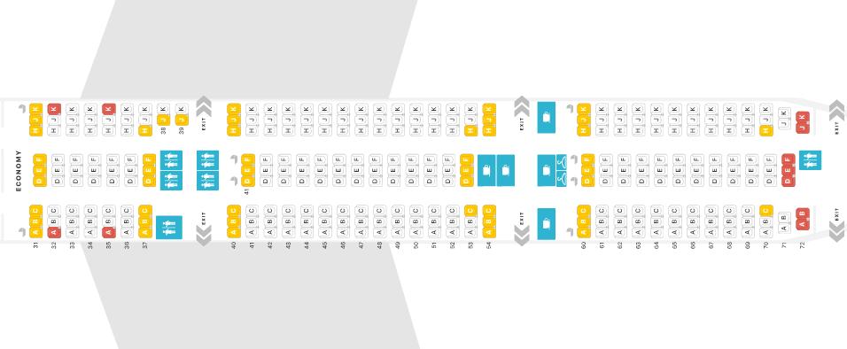 Thai Airways Boeing 777-300ER Economy Class Seat Map