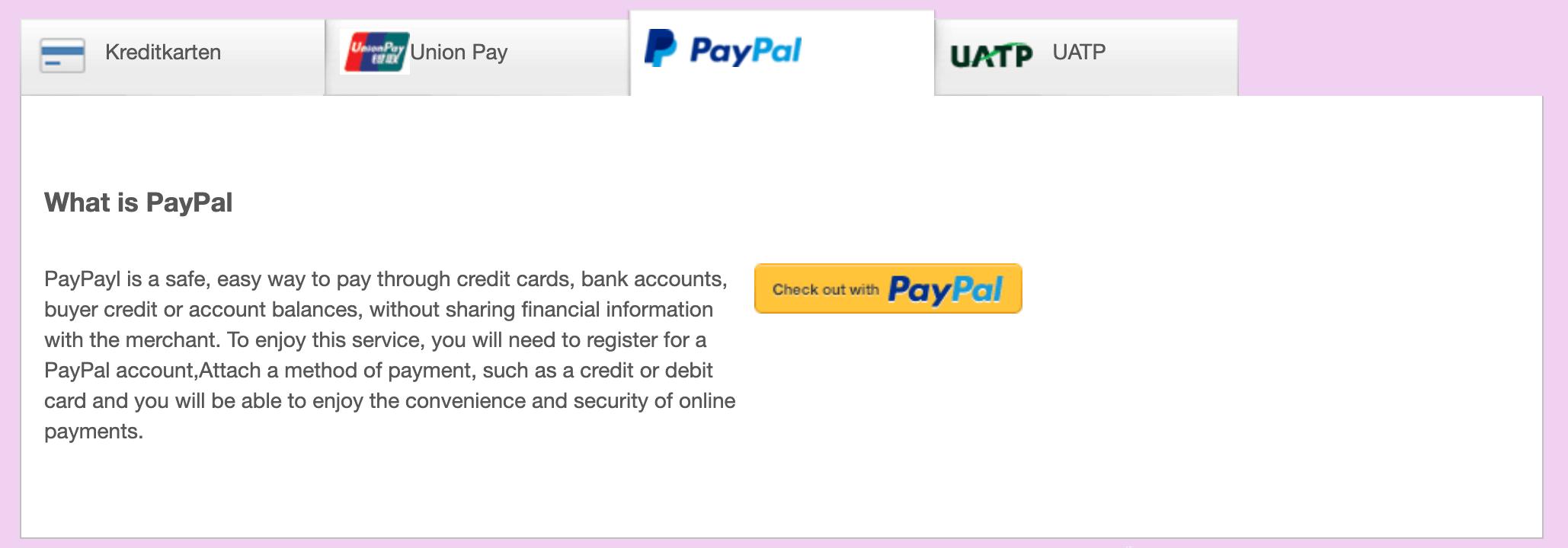 Thai Airways Zahlung ohne Kreditkarte