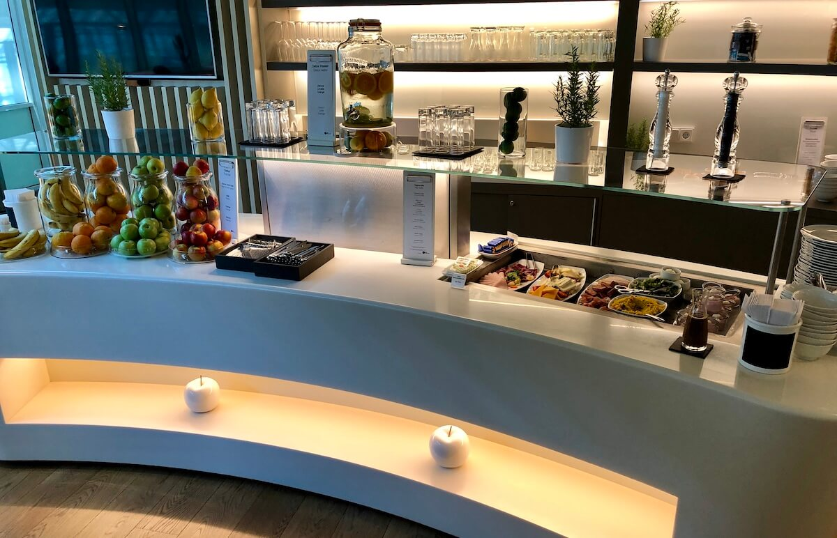 Airport Lounge Europa Essensauswahl