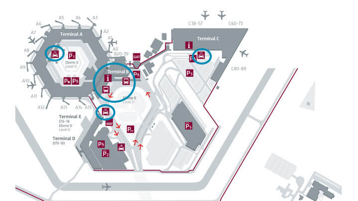Berlin Tegel Flughafenanbindung Karte