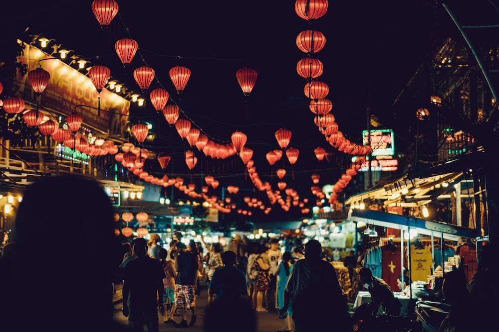 Nachtmarkt Vietnam