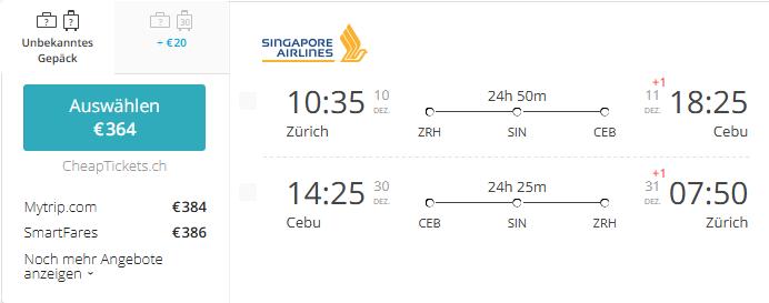 ZRH-CEB-Dezember-Singapur-Airlines