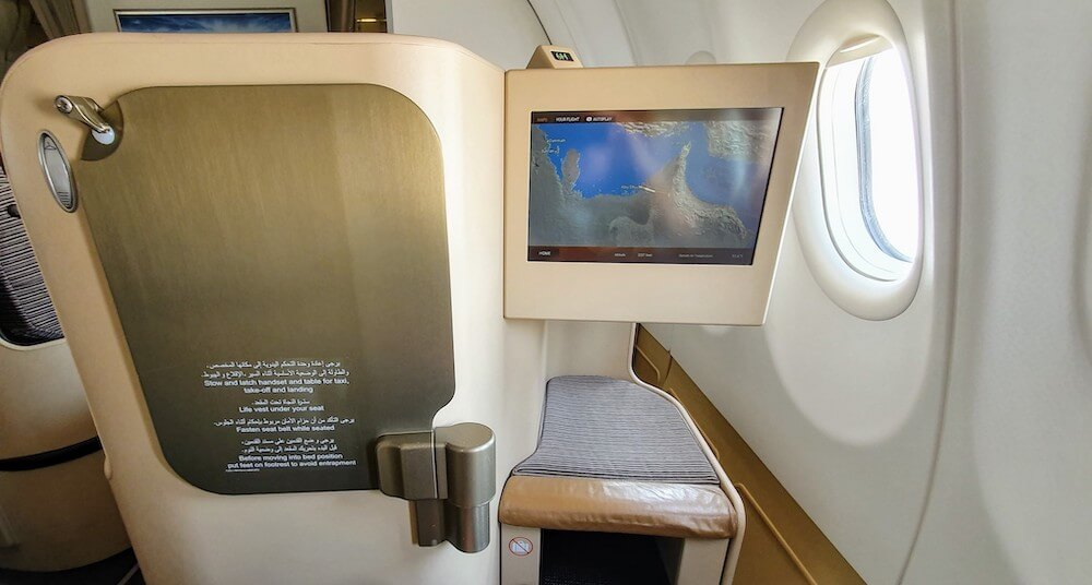 Entertainment System Etihad Airbus A330 Business Class
