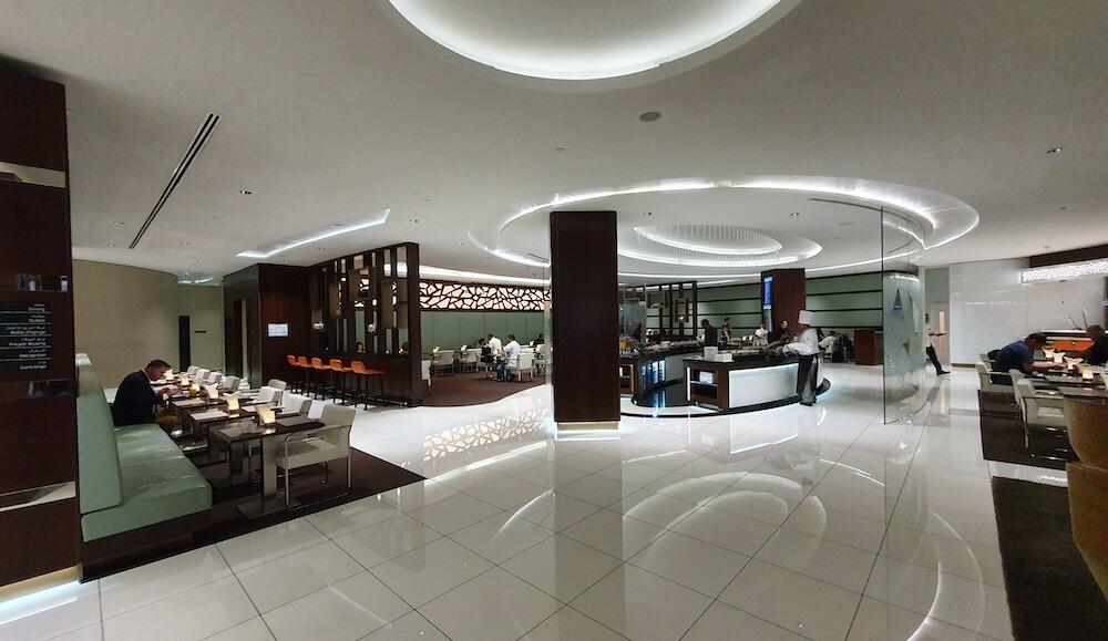 Etihad Business Class Lounge Bereiche Abu Dhabi Terminal 3