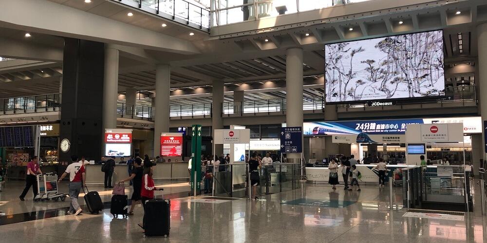 Flughafen Hong Kong Bus, Zug, Taxi, Transferschalter