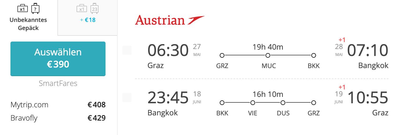 Graz - Bangkok Mai 2020