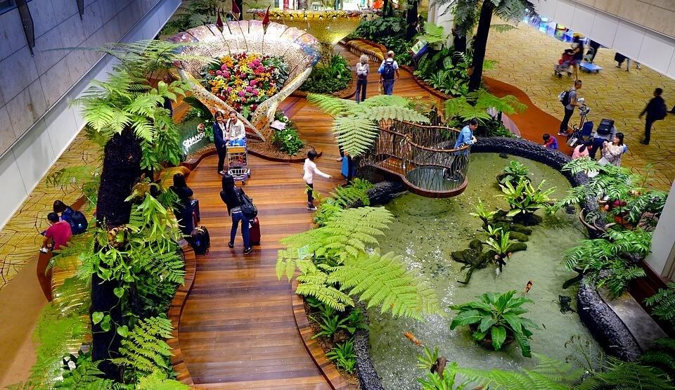 Singapore Changi Terminal 2 Garten