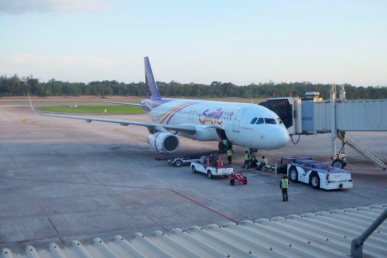 Thai Smile Plus Class Airbus A320 Bangkok nach Phuket