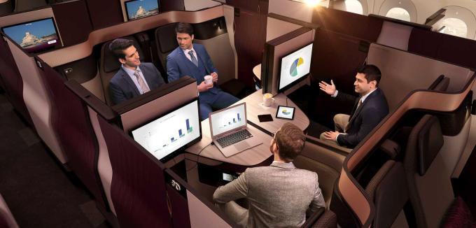 Qatar Airways Q-Suite Business Setup