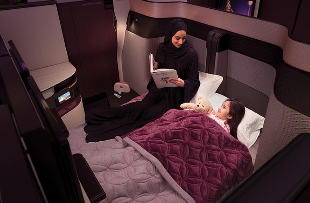 Qatar Airways Q-Suite Doppelbett